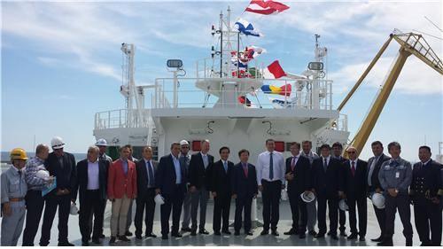 Ambasadorul Hyo-Sung Park a luat parte la ceremonia de de inaugurarea tinuta la santierul naval Daewoo Mangalia